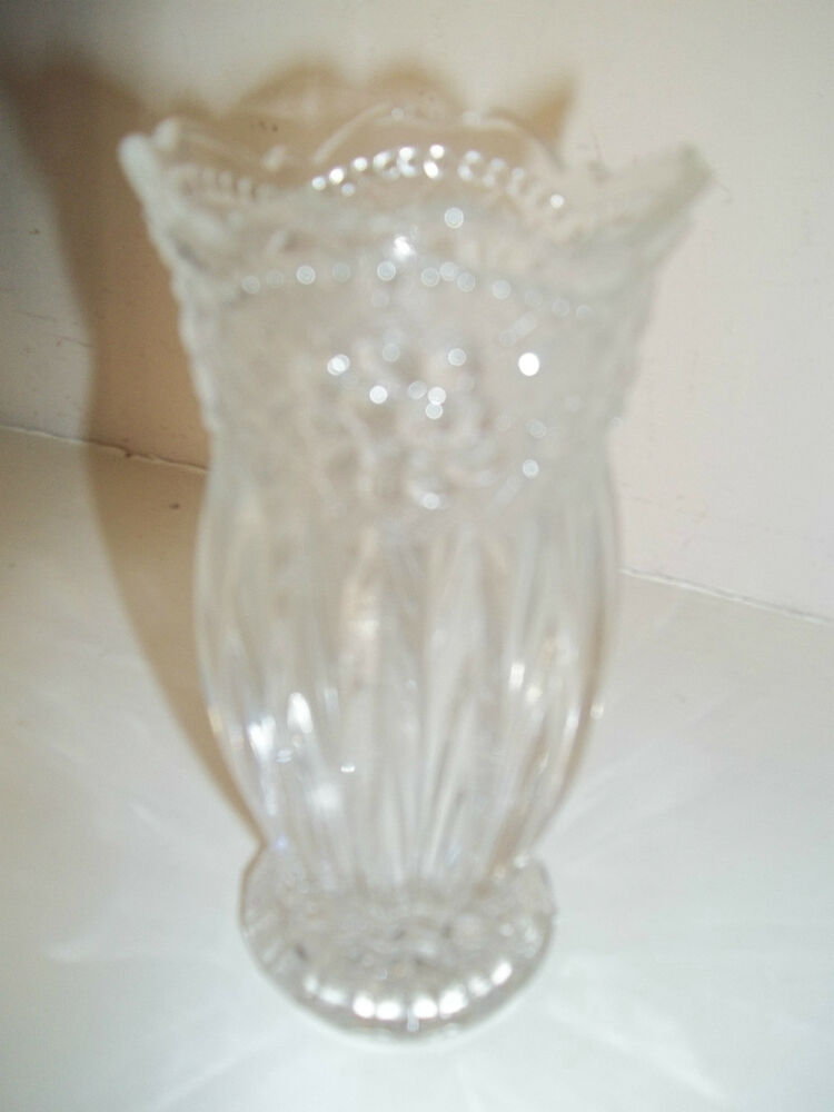 studio nova 5 clear handcrafted glass vase beautiful designs clear ebay. Black Bedroom Furniture Sets. Home Design Ideas