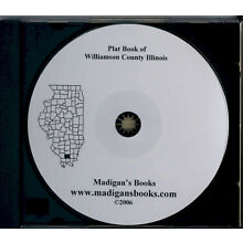 Williamson Co Illinois IL plat genealogy Marion land owners history CD
