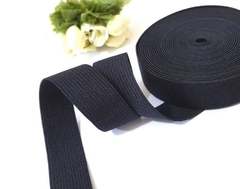Heavy Duty Thick Black Waistband Elastic Band 3 4 Quot 19 Mm