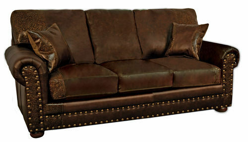 Couch Made Of Leather: Jesse James Sofa 100% Leather Sofa Couch American Made C