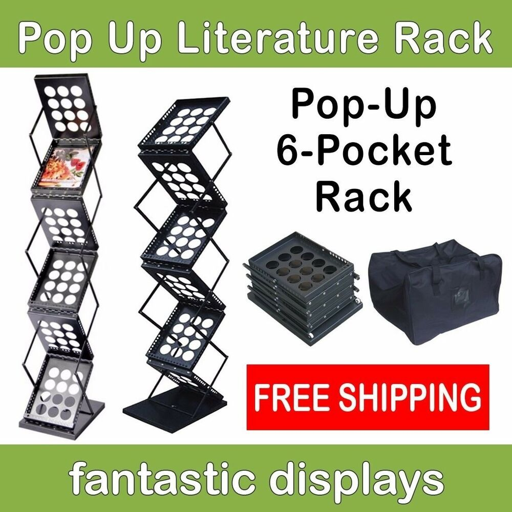 pop up literature rack