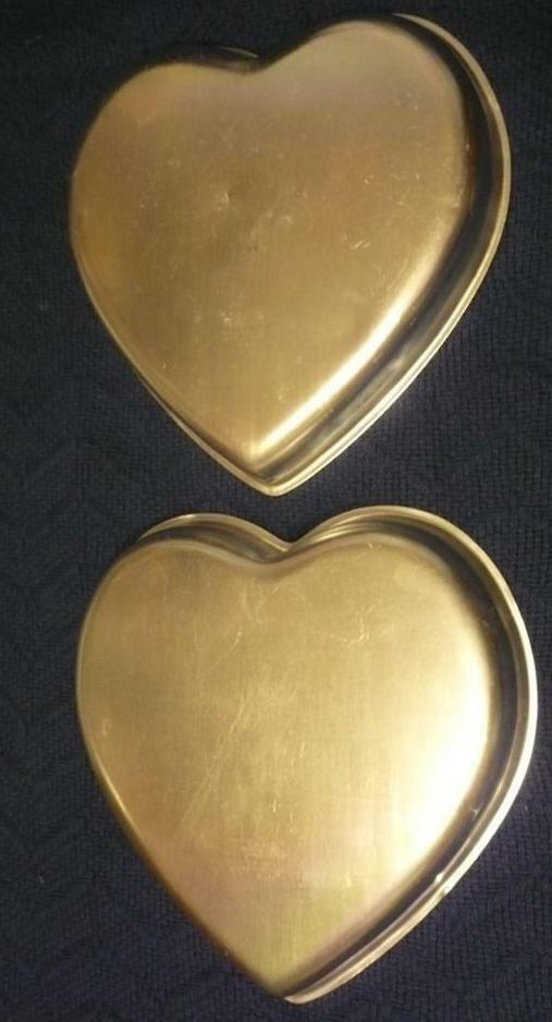 heart cake pan shaped wilton 1971 aluminum cake cookie 4764