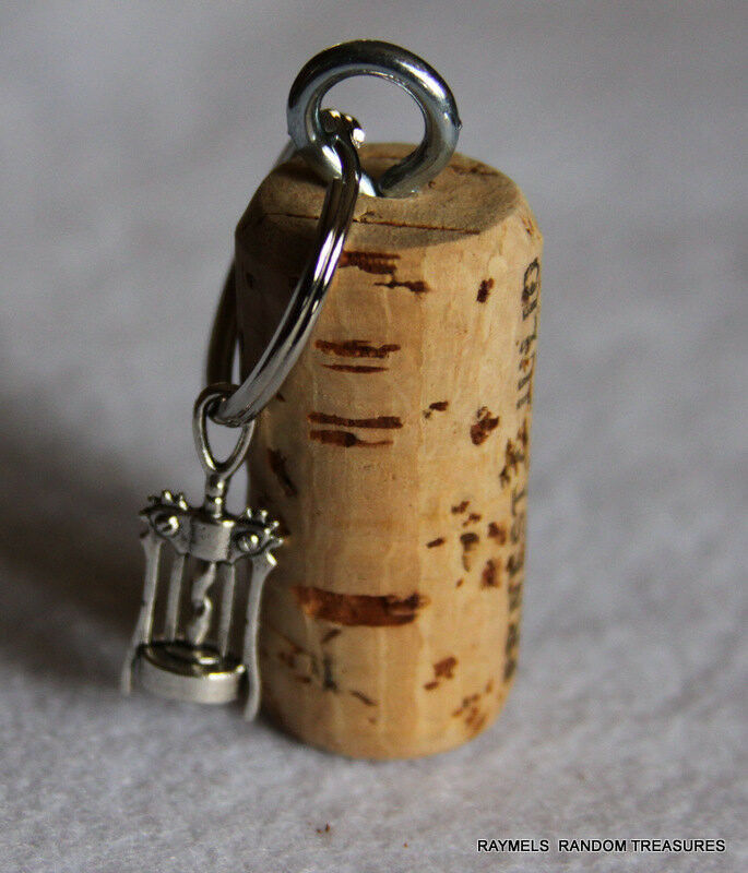 Nautical Cork Keychain Corkscrew Wine Bottle Opener Charm ...