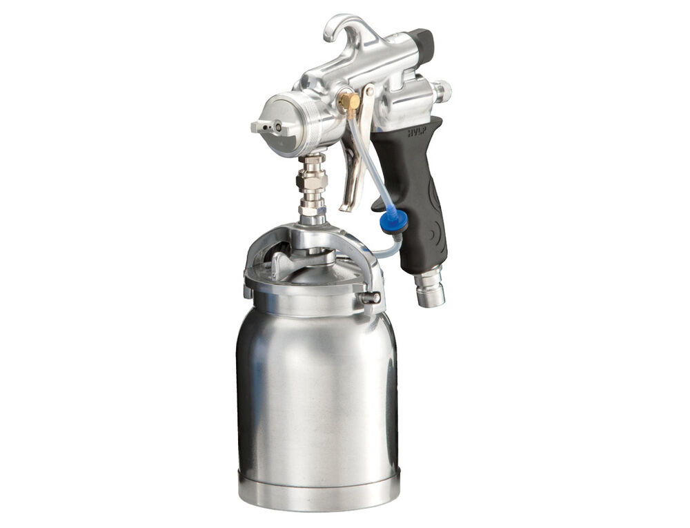 tech silver pro hvlp turbine paint spray gun ebay. Black Bedroom Furniture Sets. Home Design Ideas