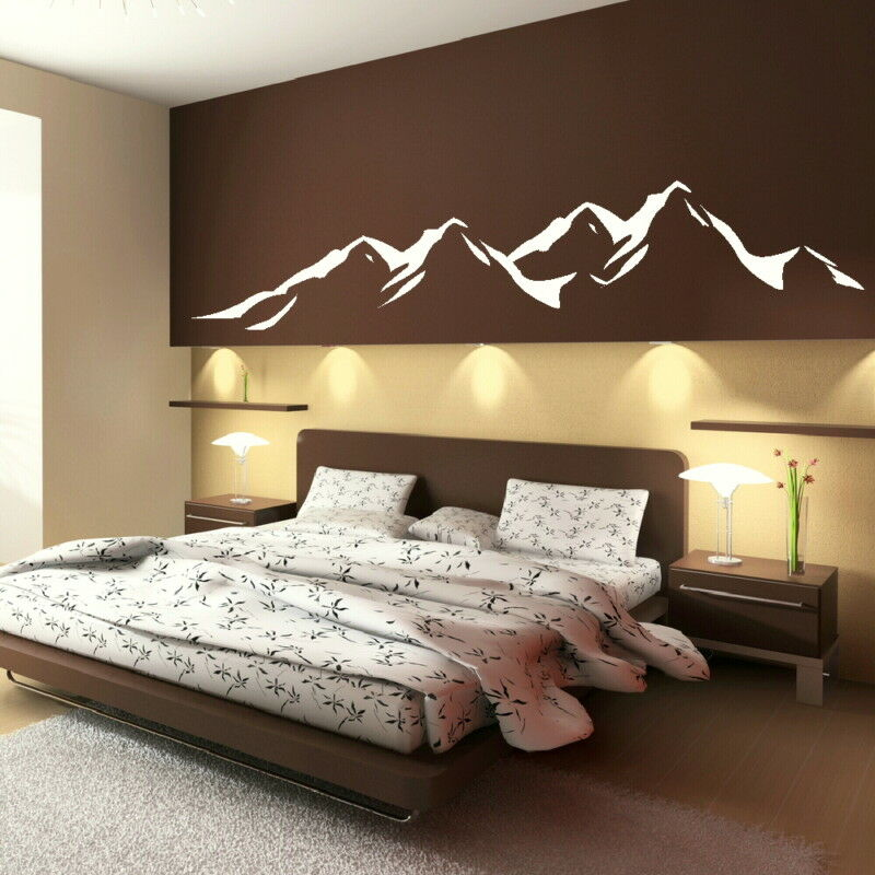 modern wall decor for bedroom mountains removable vinyl decal decor wall sticker 19293