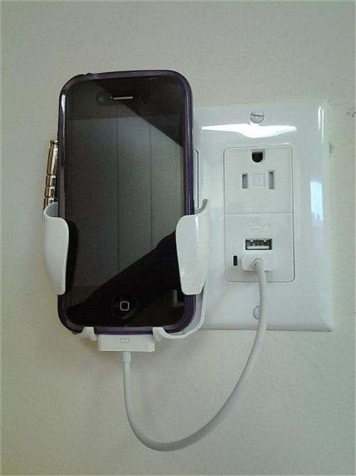 cell phone charging station usb iphone 4 5 android. Black Bedroom Furniture Sets. Home Design Ideas