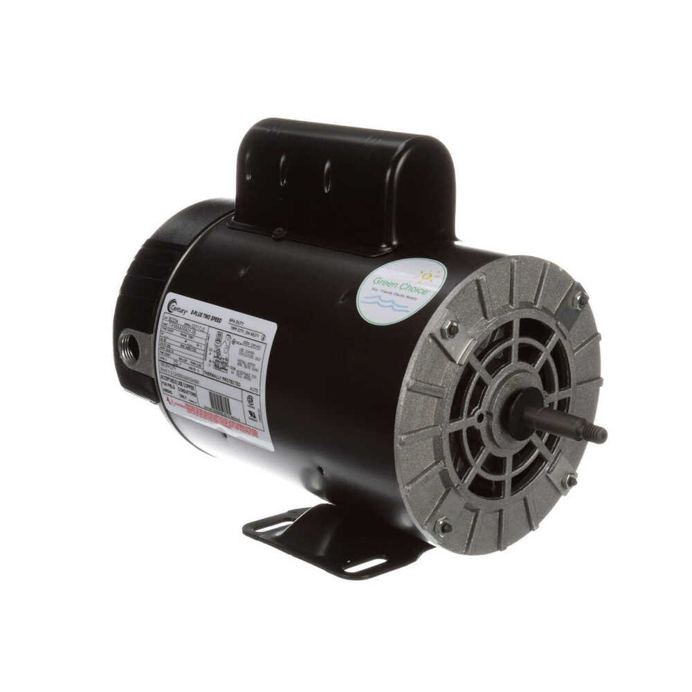3 hp 3450 1725 rpm 56y frame 230v 2 speed pool spa motor for Ao smith ac motor 1 2 hp
