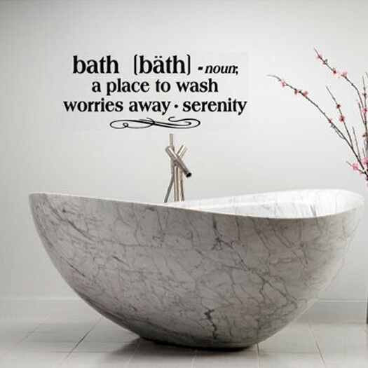 Bath Definition Words Bathroom Vinyl Decor Decal Wall