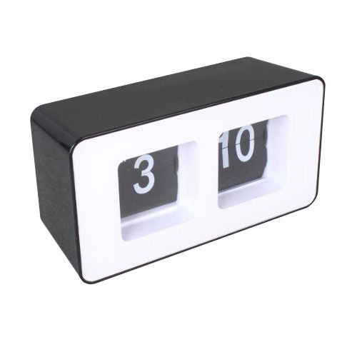 desktop retro flip clock black abs material quality ebay. Black Bedroom Furniture Sets. Home Design Ideas