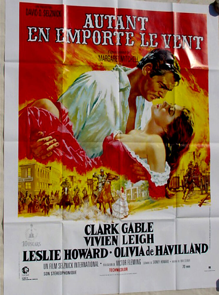 Gone with the Wind (1939) R1989•Selznick•Gable•French ...