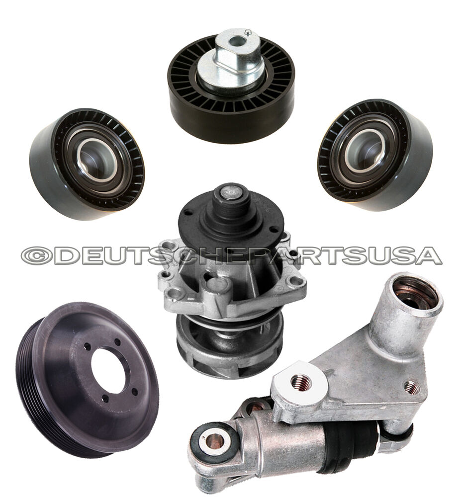 Timing Water Pump Hydraulic Ac Drive Belt Tensioner Pulley Bmw E36 E46 Set Of 6 Ebay