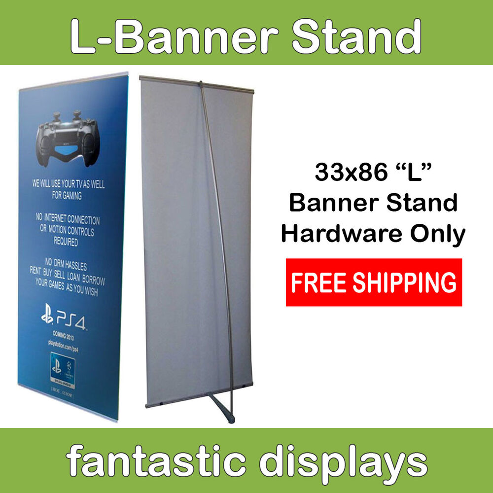 Expo Banner Stands : Inch l banner stand display for trade show exhibit expo