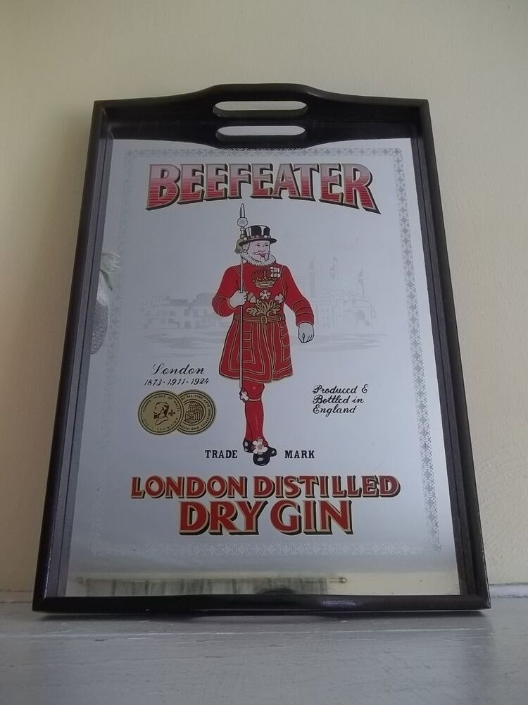 Vintage Beefeater London Distilled Dry Gin Mirrored Black