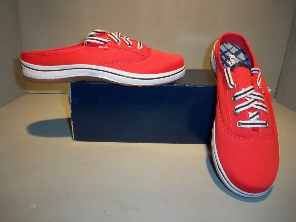 womens red keds mules