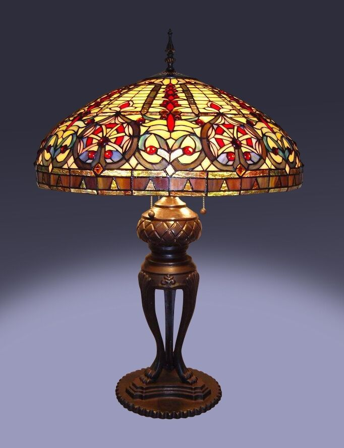 tiffany style jeweled table lamp tf7014tl ebay. Black Bedroom Furniture Sets. Home Design Ideas