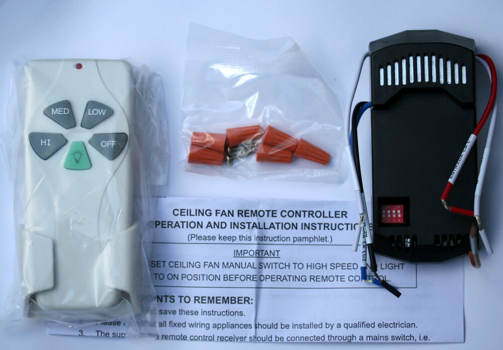 New Ceiling Fan Remote Control Kit For Cfl Light Bulbs Ebay