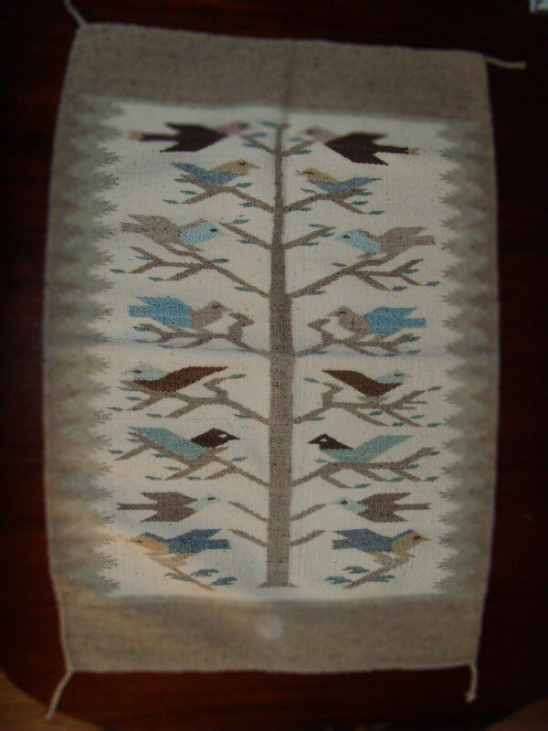 Old Tree Of Life Navajo Rug Birds Native American Indian