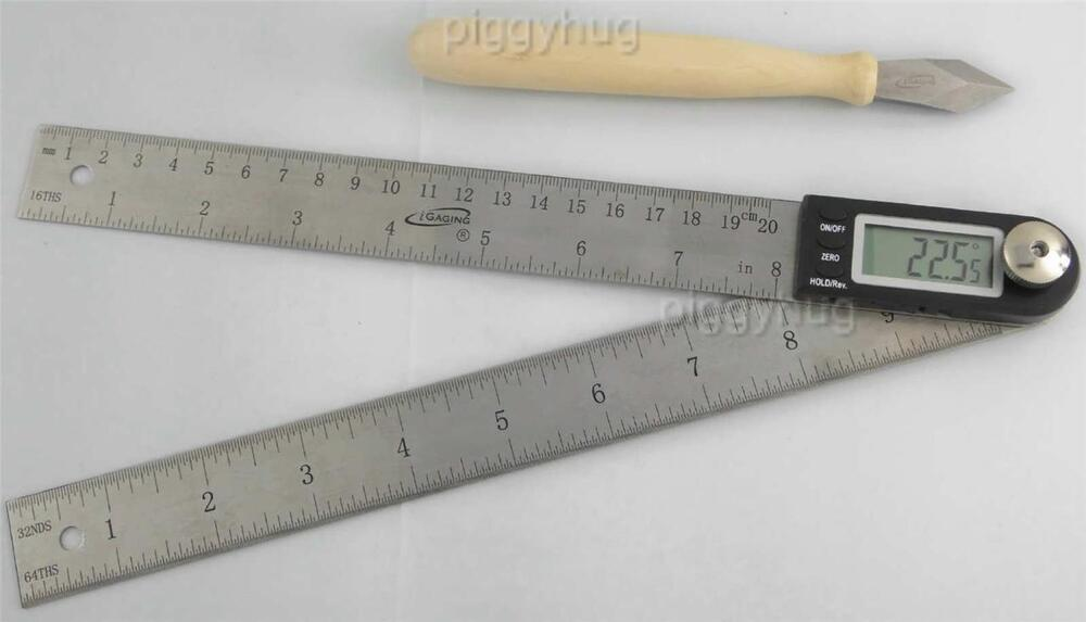 Igaging Electronic Digital Protractor 10 Miter Gauge Angle