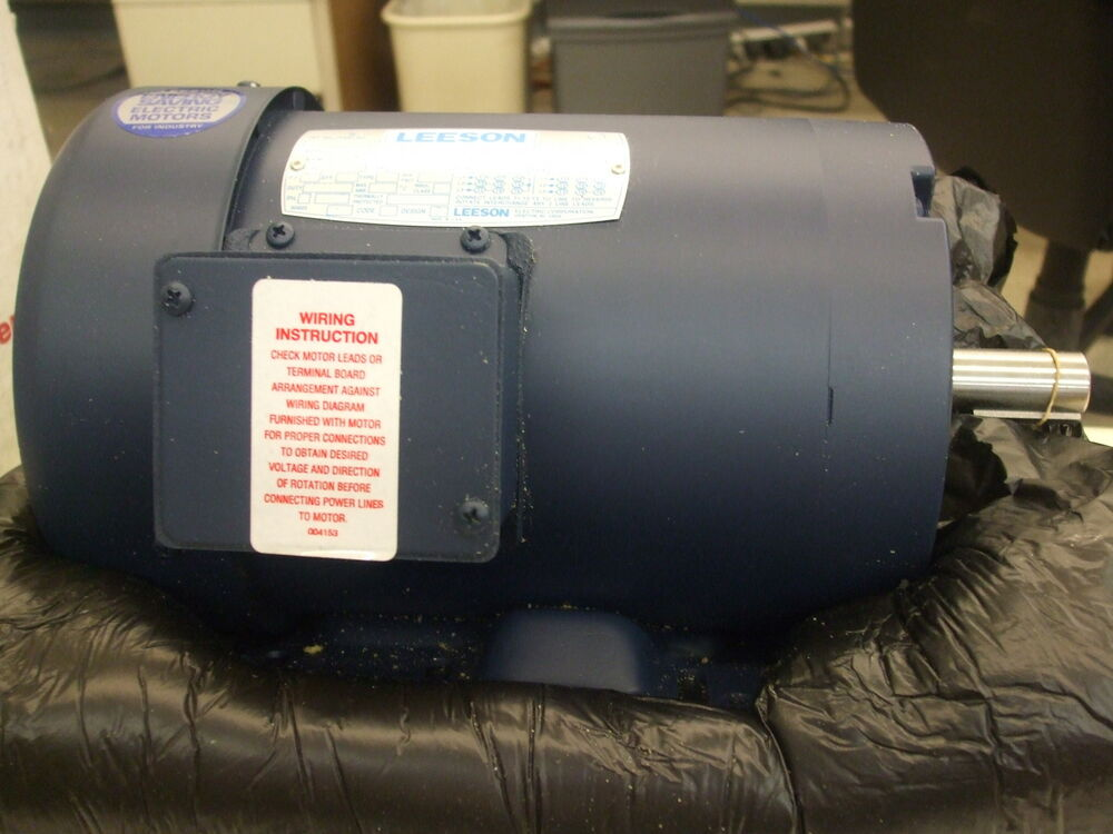 Leeson motor 120015 00 1 5 hp 3 phase rpm 1740 ebay for 5 hp single phase motor