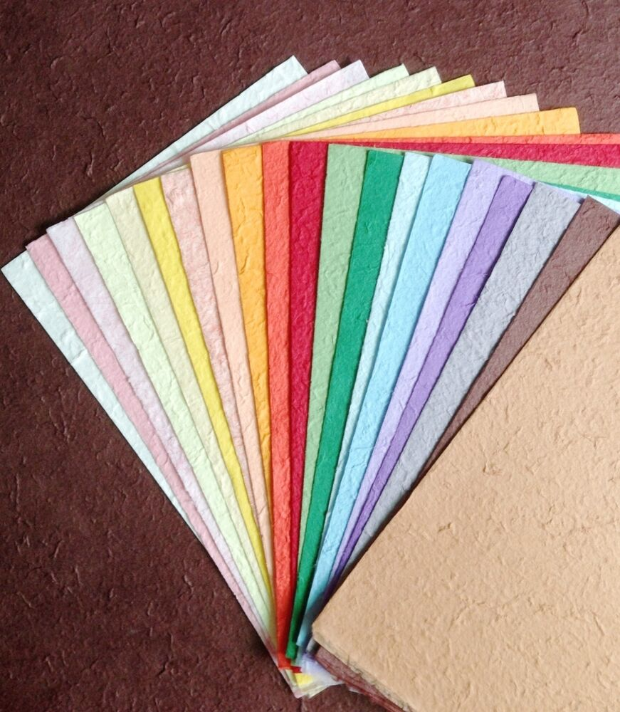 20 Sheets Mixed Colors lHandmade Saa MULBERRY PAPER Crafts ...