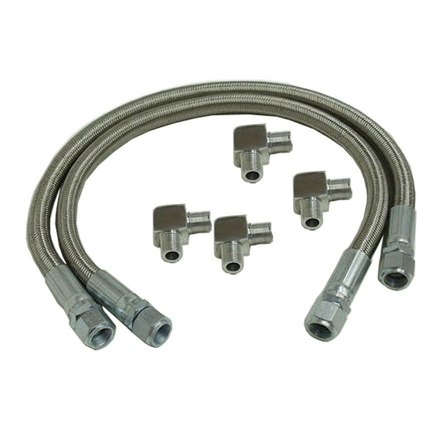Braided Coolant Lines : Braided transmission cooler hose lines including a an