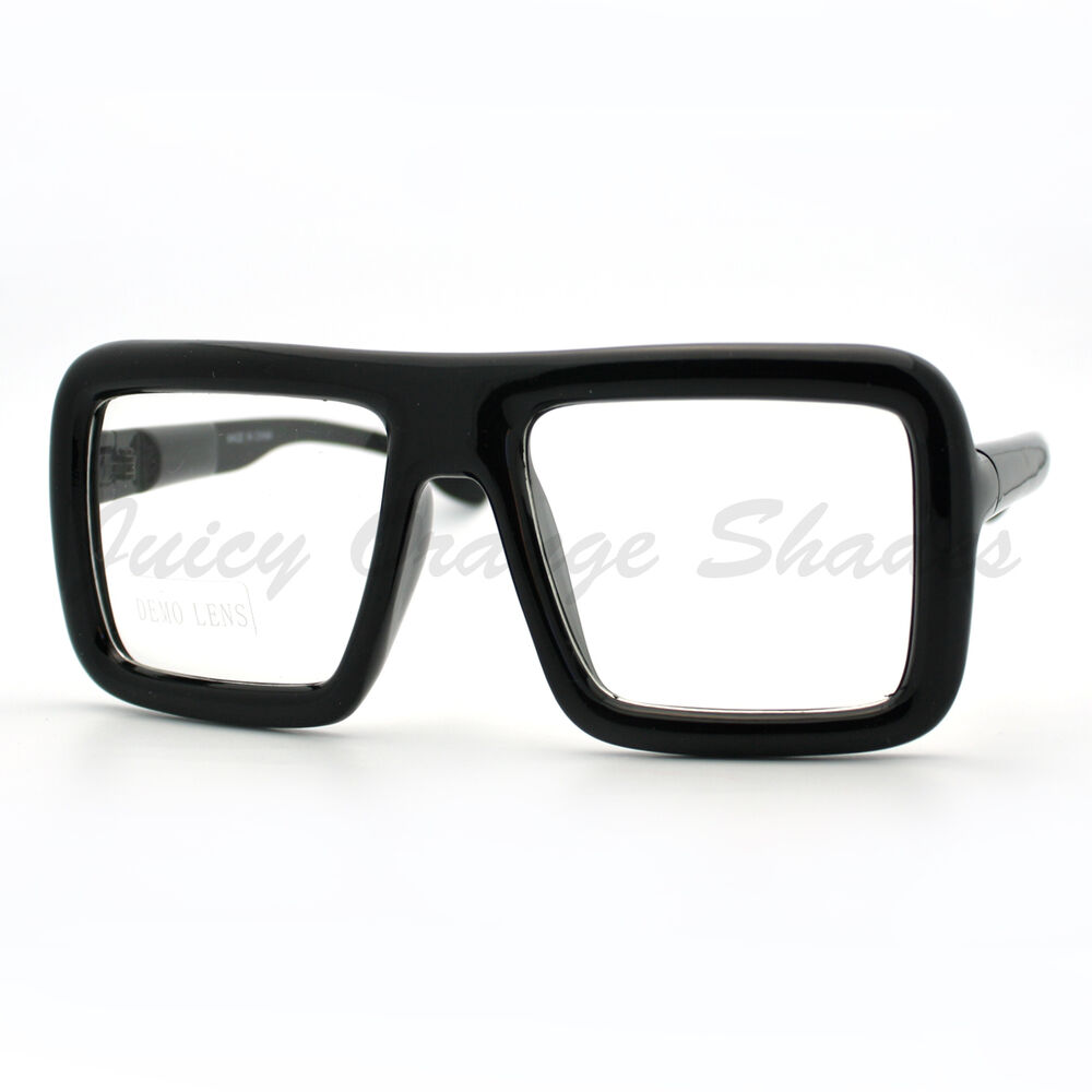 Good Eyeglass Frames For Thick Lenses : Thick Square Glasses Clear Lens Eyeglasses Frame Super ...