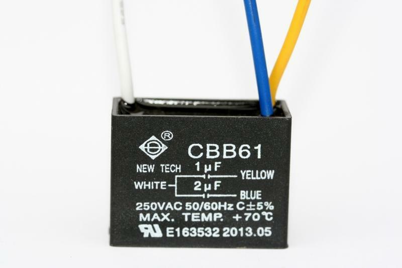 Ceiling Fan Capacitor Cbb61 1uf 2uf 3 Wire 692754127623 Ebay
