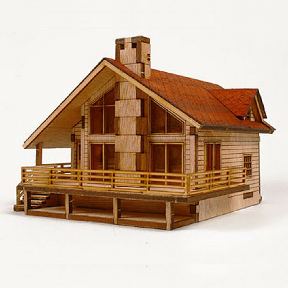 Garden house model kit wooden unassembled kits educational for Architectural design kit home