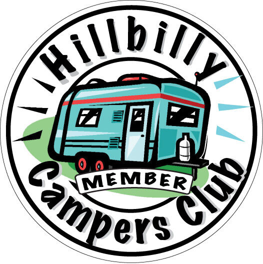 Hillbilly Campers Club Decal 3 5 Quot X 3 5 Quot Fishing Boater Rv