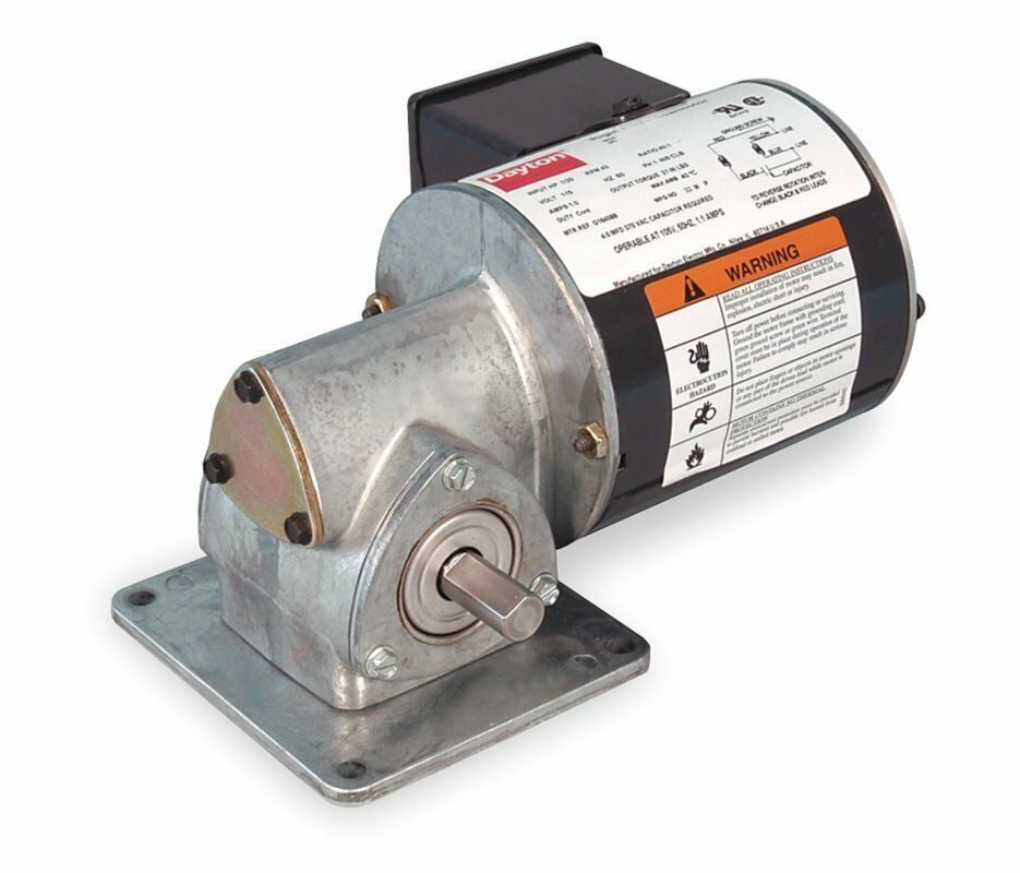 Dayton model 1xfy4 gear motor 173 rpm 1 20 hp tenv 115v ebay for 4 rpm gear motor