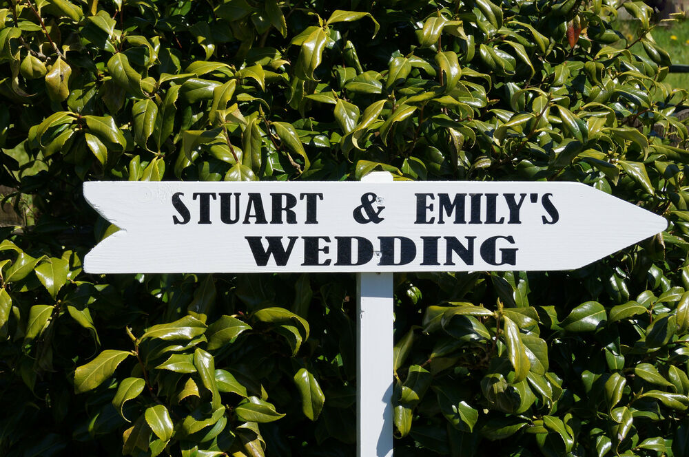 Vintage Wooden Wedding Signs Uk Large White Sign Personalised Venue