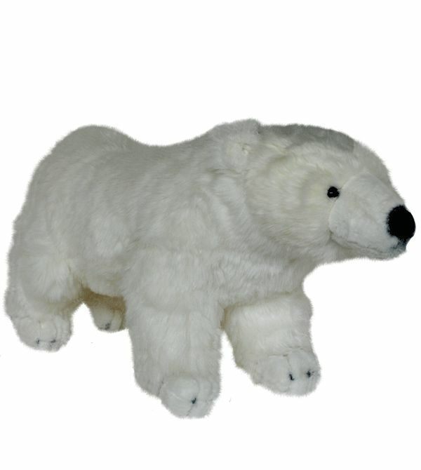 Polar Bear Toys : Nic nac quot cm plush stuffed animal toy white