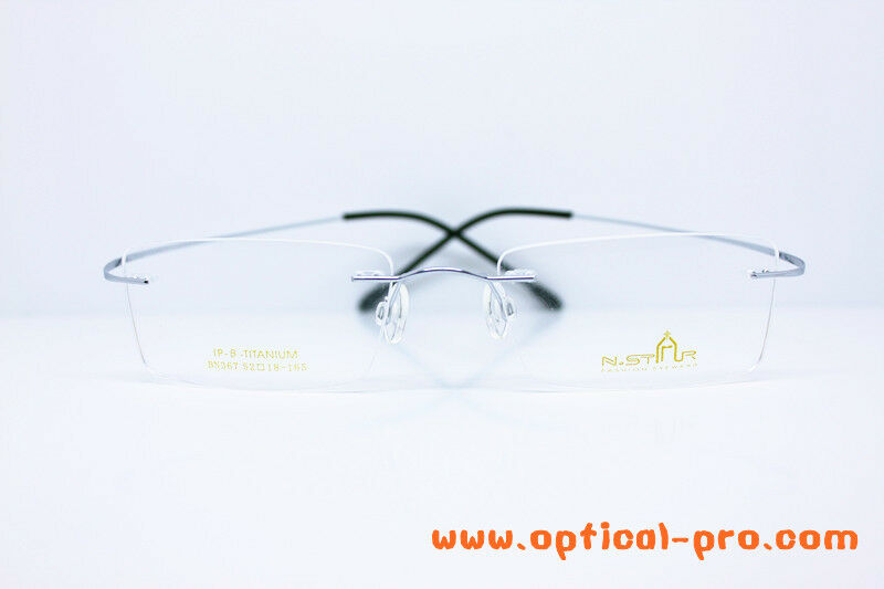 Eyeglass Frame Temple Size : Hingeless Rimless glasses frames Pure TITANIUM - 150mm ...