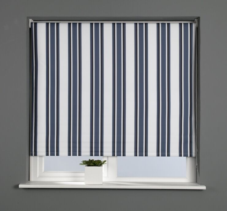 Stripe Blackout Roller Blind Easy Fit Blinds Patterned