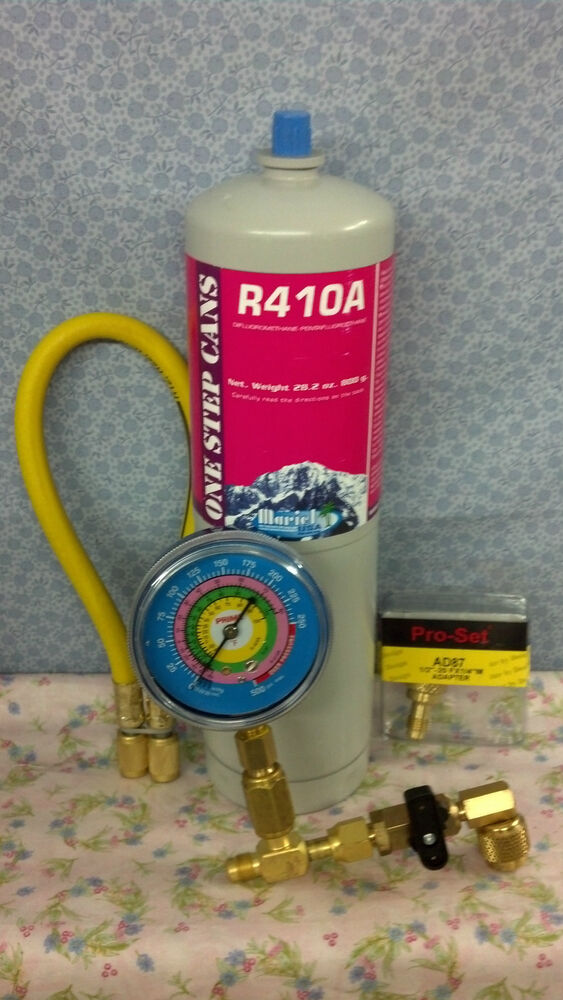 R410, R410a, Refrigerant Recharge Kit, 28.2 Oz., Air