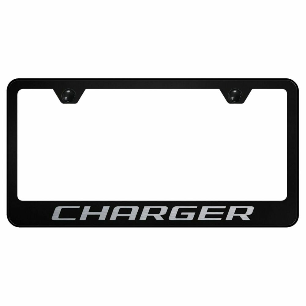 Dodge Charger Laser Etched Frame Black Gloss License Plate