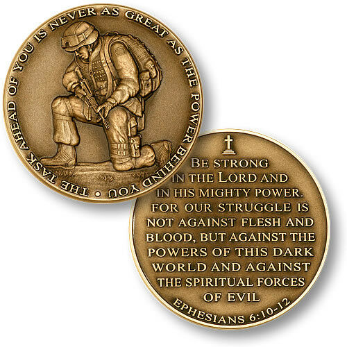 The Task Ahead Challenge Coin Praying Soldier Prayer