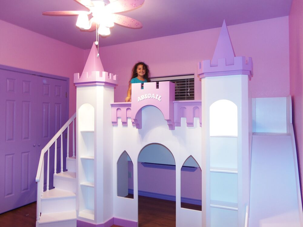 New custom princess abigail 39 s castle ebay for How to build a castle bed