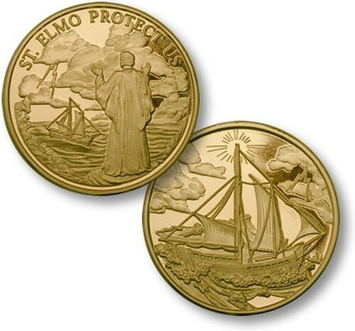 St Elmo Protect Us Challenge Coin Patron Saint of Mariners ...