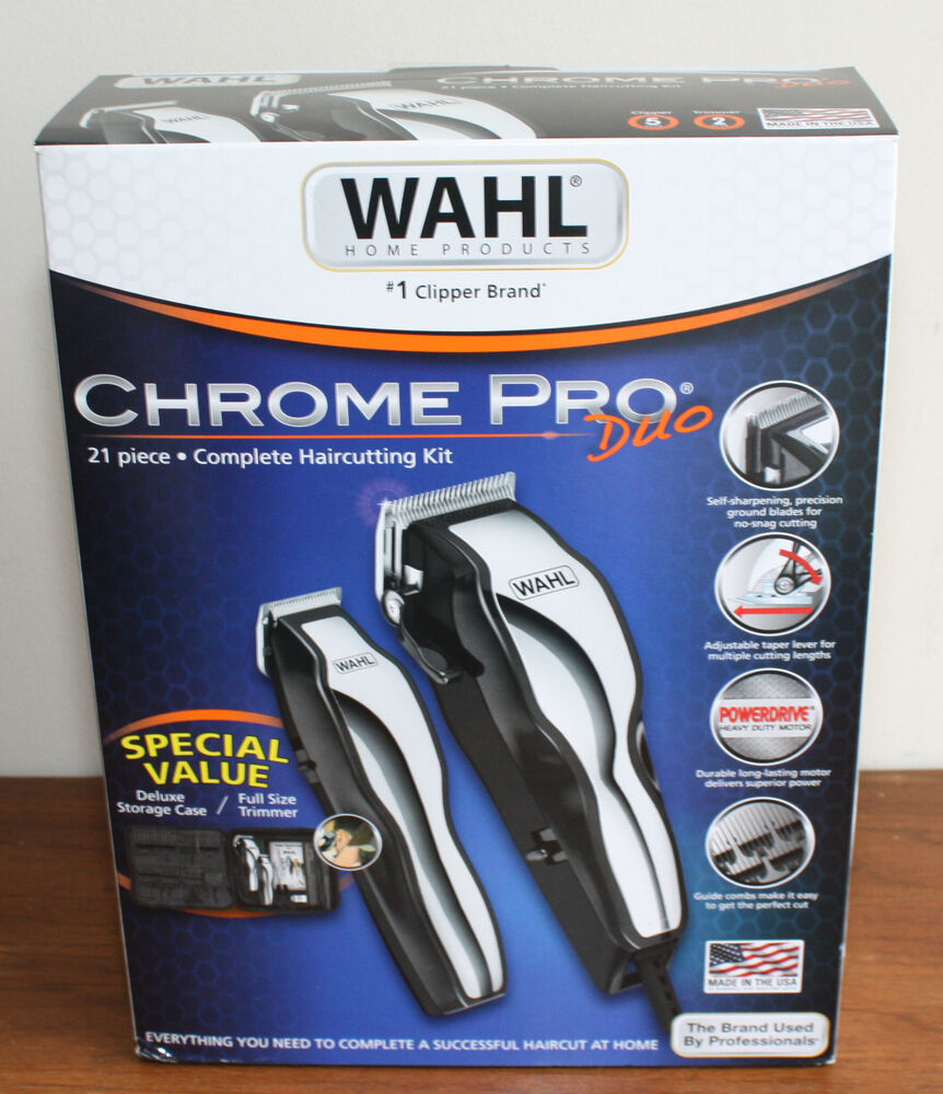 wahl home haircutting kit new haircutting kit wahl pro duo deluxe made in 4093