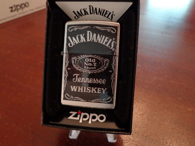 jack daniel 39 s tennessee whiskey zippo lighter mint in box. Black Bedroom Furniture Sets. Home Design Ideas