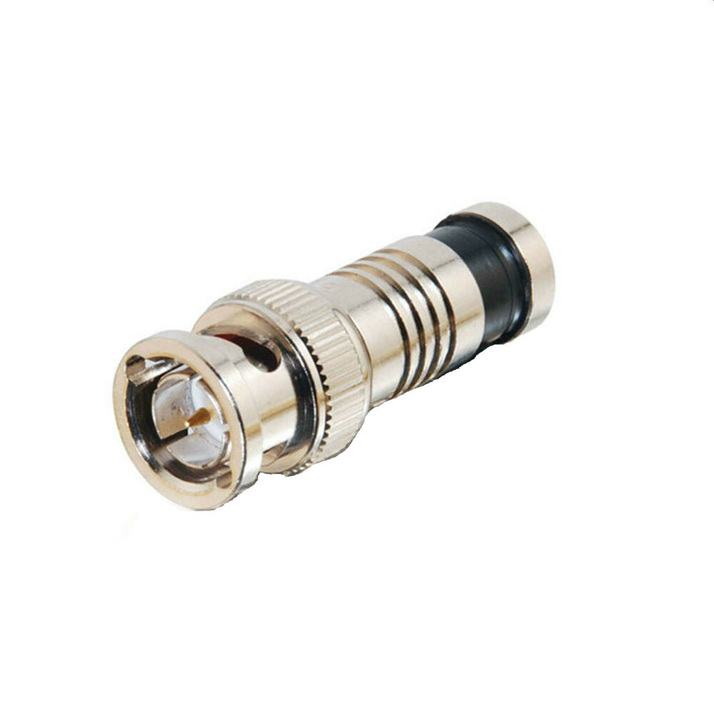 Security Camera Cables And Connectors : Bnc male compression connector rg security coaxial