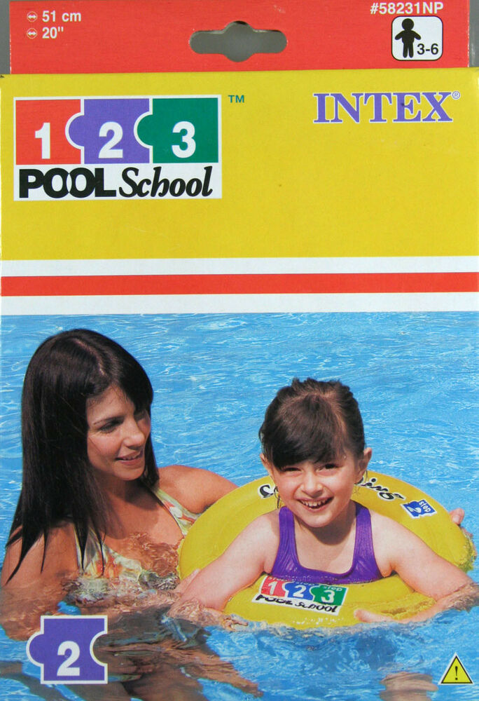 2x intex 123 pool school schwimmring 51 cm swim ring ebay - Pool school 123 ...