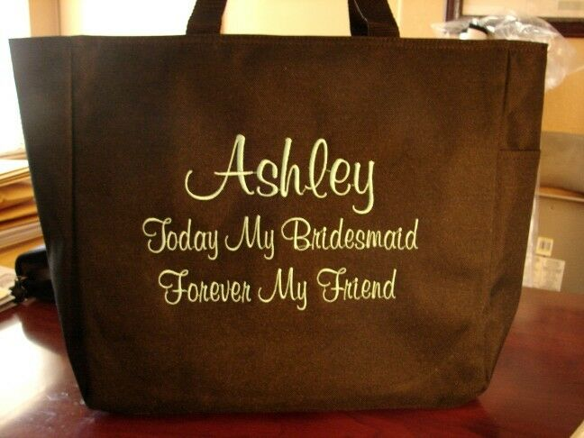 Wedding Gift Bags For Bridal Party : Bride WEDDING TOTE Bag GIFT BRIDESMAID PERSONALIZED BD493 BRIDAL PARTY ...