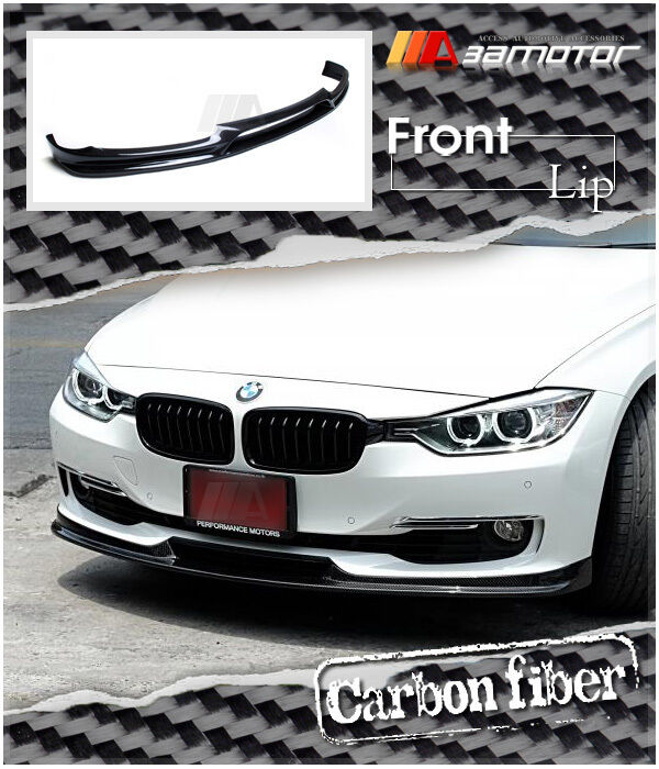 3D Style Carbon Fiber Front Bumper Lip Spoiler For BMW F30