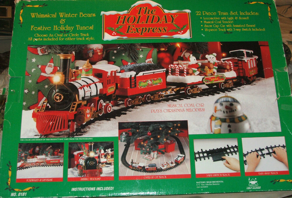 Musical Holiday Train Set Big Enough To Go Around Under
