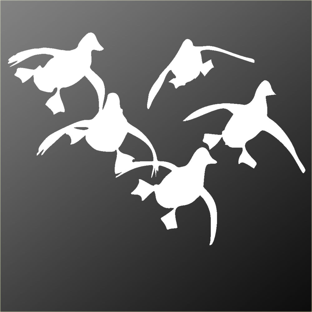 Flying ducks stickers decals graphics wildfowling for Duck hunting mural