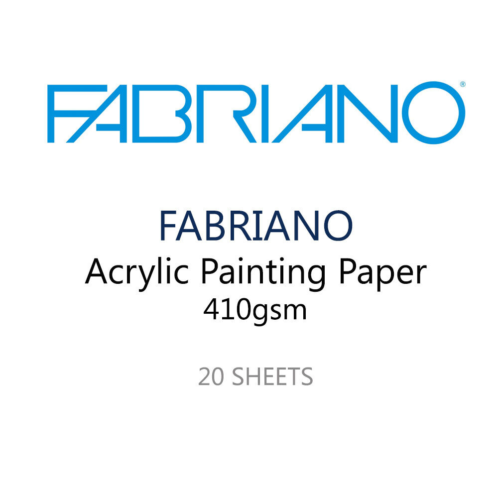 Fabriano acrylic painting artist paper pack of 20 400 for Acrylic painting on paper tips