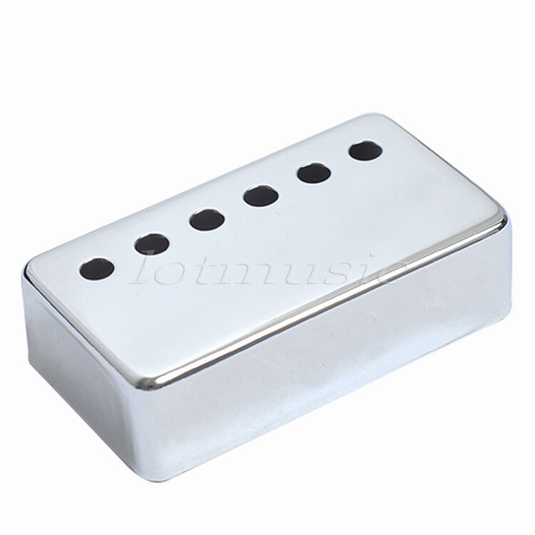 chrome humbucker cover 50mm pole spacing guitar pickup cover ebay. Black Bedroom Furniture Sets. Home Design Ideas
