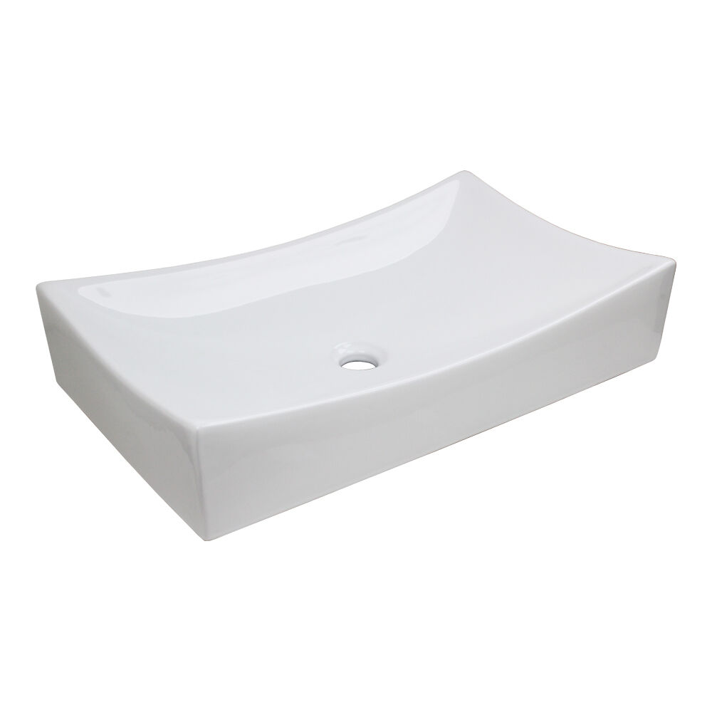 Modern Porcelain Ceramic Rectangle Vessel Bathroom Sink 21